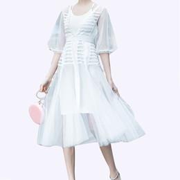 36da54ecc1 Mesh v neck long dress online shopping - Sequins Patchwork Dress Women Mesh  Perspective High Waist