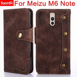 $enCountryForm.capitalKeyWord Australia - For Meizu M6 Note Fundas Luxury Vintage Leather Wallet Flip Case For Meizu Meilan Note 6 Cell Phone Capa Coque