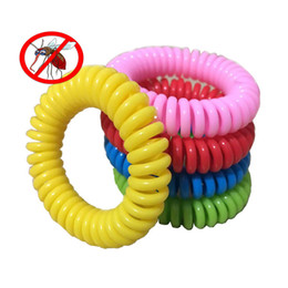 Ingrosso 2020 Anti-zanzara braccialetto repellente della zanzara del parassita respinge polso della fascia del braccialetto dell'insetto repellente antizanzare impedire agli insetti Lontano colore misto
