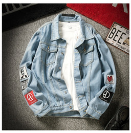 vintage clothing mens jackets NZ - Wholesale Mens Denim Jacket High Quality Fashion Jeans Outerweat Slim Casual Streetwear Vintage Mens Clothing Plus Size M-3XL