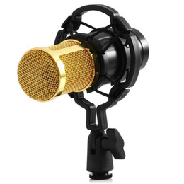 $enCountryForm.capitalKeyWord Australia - Microphone BM-800 BM800 Professional Condenser Sound Recording Microphone with Shock Mount for Radio Braodcasting Microphone