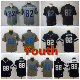 66bd1c0aa Youth 88 Michael Irvin Dallas Jersey Cowboys Football Jersey 100% Stitched  Embroidery 82 Jason Witten Kids Football Stitching Boys Jersey