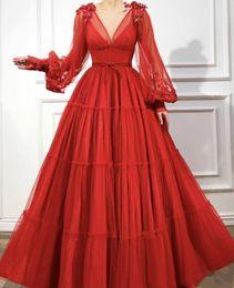 $enCountryForm.capitalKeyWord Australia - Gorgeous Arabian V Neck Prom Dresses 2019 New Design Dubai Evening Wear Gowns Long Sleeve Graduation Dresses robe de soiree Abendkleid