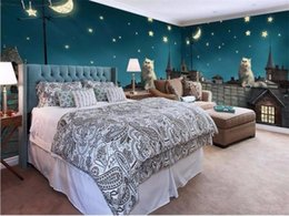 $enCountryForm.capitalKeyWord Australia - custom 3d photo wallpaper living room bed room kids mural Roof Cat Moon Star 3d picture home decor sofa backdrop wallpaper