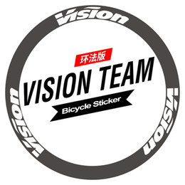 Cycling Road Rims Australia - 700C 30 38 50 55 60 88mm rim wheel sticker Road bicycle stickers cycle reflective road wheels decal for VISION metron pro team