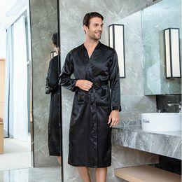 $enCountryForm.capitalKeyWord NZ - Solid Men Satin Robe Fashion bridegroom Wedding Robes Kimono Bathrobe Gown Sleepwear Casual Male Home Nightgown Sleep Shirt