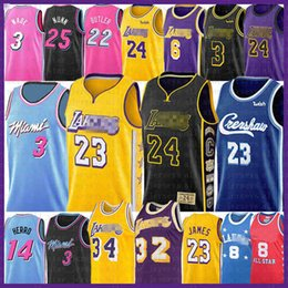LeBron 23 6 James Basketball Jersey Bryant Dwyane 3 Jimmy Wade Butler Anthony Tyler Davis Earvin Herro Nunn Shaquille Johnson O'Neal 22 14 on Sale