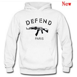 taser guns 2019 - Free Shipping New Cotton Men DEFEND Hoodie Sweatshirts Autumn Spring Hooded Hoodies Hip Hop Casual Pullovers Tops Clothi