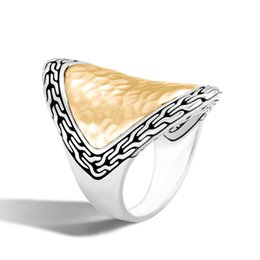 Chinese  European Ornaments Restore Ancient Ways Exaggeration Texture Glue Ring Fashion Men And Women General Purpose Ring Hand Ornaments manufacturers