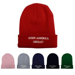 $enCountryForm.capitalKeyWord Australia - Trump Woolen Knitted Cap Women Men Letter Print Keep America Great Beanie knit Hat Winter warm Cap LJJA2668