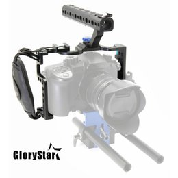 $enCountryForm.capitalKeyWord Australia - GloryStar DSLR Camera Cage With Top Handle Grip For Panasonic Lumix GH5 Camera Rig