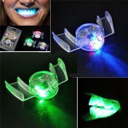 $enCountryForm.capitalKeyWord UK - Flashing LED Light Up Mouth Braces Piece Glow Teeth For Halloween Party LED Rave Toys Flashing Teeth Mouth Toy SS156
