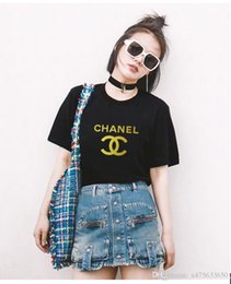 Channel Print Australia - summer tops for women 2019 Tshirt Women channel T shirt Printing famous design brand Tee Shirt For Female Top Clothes Short Sleeve