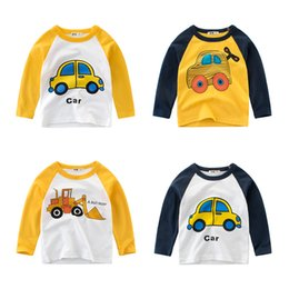 Discount boy cars t shirts - 2019 New Boys Cartoon Car T-shirt Fashion Spring Autumn Kids Soft Cotton Clothes Baby Casual Tops Tees Children Blouse T