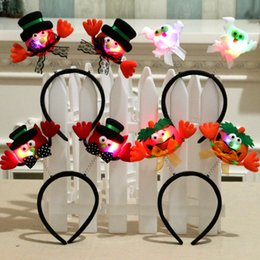 prom lights decorations Australia - Halloween Glow Headband Halloween Decorations Prom Party Head Buckle Supplies Halloween Glow Toys Wholesale 5 Optional