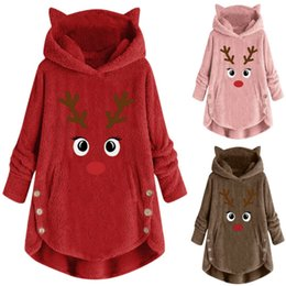pull long femme achat en gros de-news_sitemap_homeMode Womens Christmas Christmas Sweatshirt Fourrure Fluffy Fourrure Dames Jumper Noël Tops Hiver Womens Coat