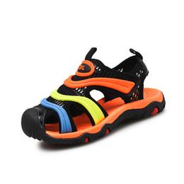 Children Boy Beach Sandal Shoes Summer Child Round toe sandals cut-outs Shoes Kids Soft sandals breathable flats