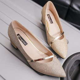 $enCountryForm.capitalKeyWord NZ - Sexy2019 Autumn Pattern Single Shoes. Light Noodles Shallow Mouth Sharp Coarse With Women's Shoes Four Seasons Shoe