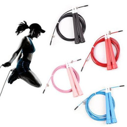 Crossfit Cable jump rope online shopping - Double bearing rope skipping Metal wire cable Speed Exercise Fitness Crossfit Jump Gym Skipping Rope Weight bearing racing skipping ropes