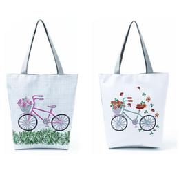 $enCountryForm.capitalKeyWord Australia - Women Butterfly Print Canvas Bags Tote Shopping Storage Single Shoulder Hand Bag Fashion Casual Handbag Totes Bag For Women Girl