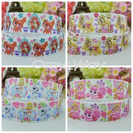 "$enCountryForm.capitalKeyWord Australia - Princess Ribbons 7 8"" 22mm Princess Pets Printed Grosgrain Ribbon DIY Hair Bow Craft,,Sewing,Packaging Ribbon 50 Yards"