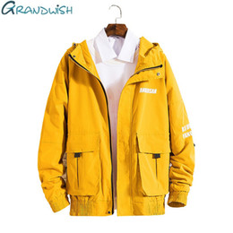 $enCountryForm.capitalKeyWord Australia - Grandwish New Korea Version Men's Overalls Hoody Baggy Jacket Men College Jacket Yellow Black Casual Spring Jacket For Men,za166 SH190824