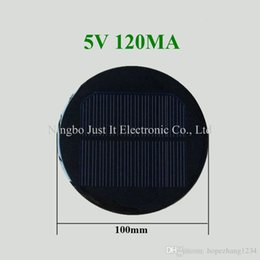 100 teile / los Runde Epoxy Solarzelle 5 V 120mA Durchmesser 100mm im Angebot