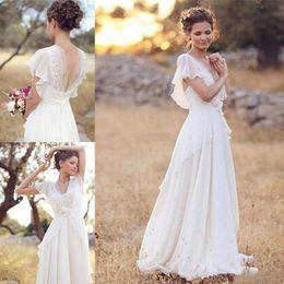 $enCountryForm.capitalKeyWord Australia - New Country Wedding Dress Lace Chiffon Floor Length Sweetheart Vintage Wedding Dresses Outdoor Beach Bridal Gowns Custom Made 209