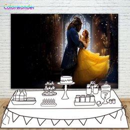 Fundo de fotografia beleza vestindo vestido de dança com a besta para festa de casamento prop conto de fadas mundo backdrop