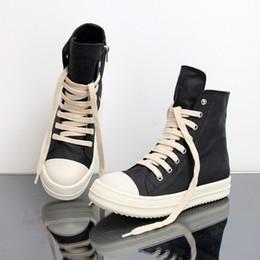 Ingrosso 1Street Hip Hop Sneakers Danza Casual Rock Shoes Stivaletti in tela di cuoio cerato Sneakers classiche da uomo Sneakers alte