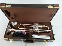 Ingrosso Bach Stradivarius LT180S-72 Tromba autentica doppio argento placcato B Flat professionale Tromba Musical superiore Ottoni