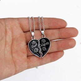 Best Friend Necklaces Sale Australia - Hot Sale Heart Shaped Pendant Necklace Couple Broken Heart Best Friends Necklaces Trendy Colorful Friendship Jewelry