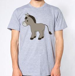 $enCountryForm.capitalKeyWord Australia - Cartoon Donkey T-Shirt custom printed tshirt, hip hop funny tee, mens tee shirts Cheap wholesale tees 2019 fashion t shirt