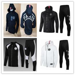 2019 PSG chándal chaqueta de fútbol 18-19 psg sudadera con capucha MBAPPE CAVANI DANI ALVES Liga de Campeones París fútbol chaqueta entrenamiento sudadera en venta