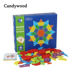 boys puzzles UK - 130 Pcs Wooden Games Montessori Educational Children Jigsaw Puzzle Learning Wood Developing Toys For Boys Girls C19041701