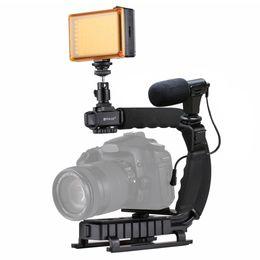 camera stabilizer steadycam 2019 - PULUZ for steadycam U-Grip C-shaped Handgrip Camera Stabilizer with Tripod Head Phone Clamp for Steadicam DSLR Stabilize
