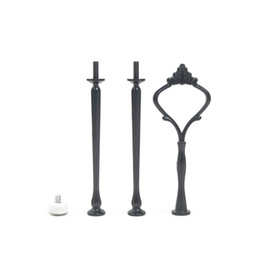 $enCountryForm.capitalKeyWord UK - Wholesale Cupcake Stand New 82g Cake Stand Handle Fitting 3 Tier Black Cake Stand Centre Handle