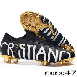 Venta al por mayor de 2019 Fútbol Cleats20 Superfly CR7 SE 6 Elite FG CR7 Tacos de fútbol Oro Negro chico de tobillo Ronaldo Fútbol para mujer Botas
