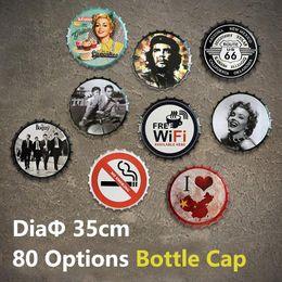 80 Seçenek 35 cm Şişe Kapağı Metal Tabelalar Bira Cafe Bar Dekorasyon Plakaları Rota Seksi Kız Retro Dekor Duvar Sanatı Plak Eski Ev dekor