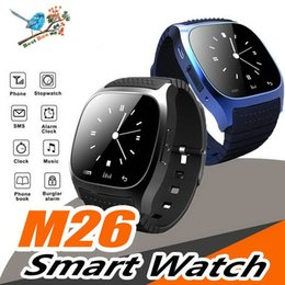 $enCountryForm.capitalKeyWord Australia - M26 Bluetooth Sport Smart Watch Music Player Pedometer For Andriod Smart Phone Mens Wristband With Retail Box