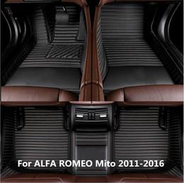 Toptan satış ALFA ROMEO Mito 2011-2016 için Yanal kesim El yapımı Araba Paspaslar Ön Arka Astar MatRDX