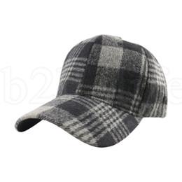 Felt balls wholesale online shopping - Plaid Snapback Hip Hop Cap Baseball Skateboard Hip Hop Cap Men Women Winter Felt Hats colors LJJK1950