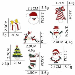 indian clothing brooches NZ - 2019 New Christmas Tree Father Christmas Brooch Enamel Alloy Clothing Pin Cartoon Christmas Socks Snowman Brooch Dress Accessories For Party