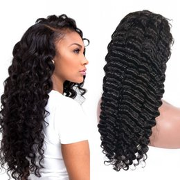 Virgin Brazilian Human Hair Wigs Australia - Brazilian Virgin Hair Deep Wave Full Lace Wigs Unprocessed Human Hair Lace Front Wigs with Baby Hair Ping