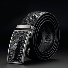 $enCountryForm.capitalKeyWord Australia - 2019 leather cowhide crocodile belt men's belt wholesale automatic buckle belt