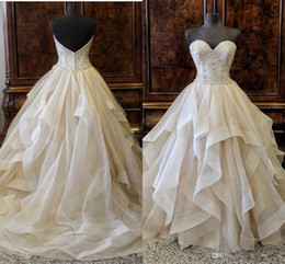 Wholesale white lace dres resale online – 2019 Organza Quinceanera Dresses Sweetheart Sleeveless Lace Up Floor Length Ball Gown Ball Gown Wedding Dres Sweet