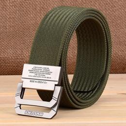 Black Wide Girls Belt Australia - Double Ring Button Nylon Belt Tactic Outdoor Sport Belt Male Weave Canvas Nylon Waist Belt