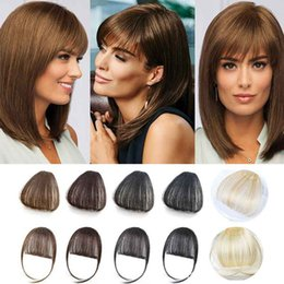 Clip Hair Bangs Fringes Australia - Clip in Human Hair bangs With Temple Suitable for all Shape of Face Fringe Hair Bangs Light Brown Fringe air Bangs