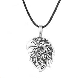 Vintage Eagle Pendant Australia - Vintage Jewelry Viking Animal Eagle Head Pendant Supernatural Norse Viking Amulet Necklace