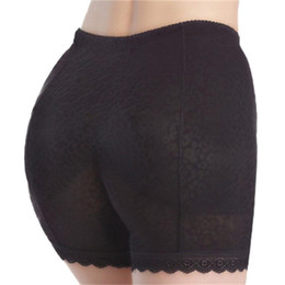 0783b09be3 Sexy Lace Breathable Control Panties Women Seamless Mid Waist Shapewear  Panties Fake Butt Padded Hip Pants